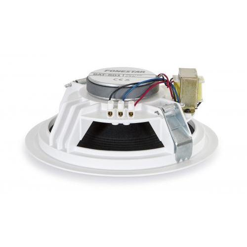 Speaker Recessed cealing 6in 100 V 10wrms springs made New Fonestar