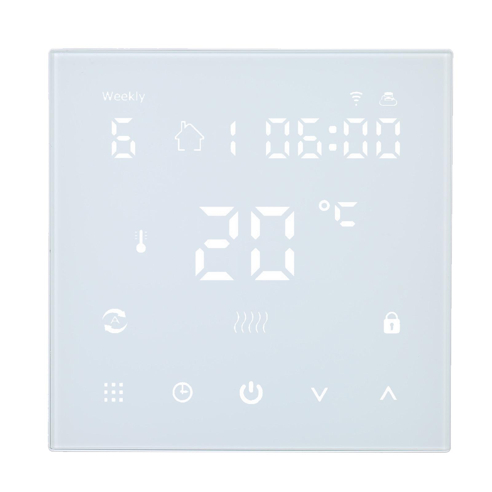 واي فاي منظم حراري ذكي متحكم في درجة الحرارة APP التحكم LCD لوحة التحكم باللمس منظم حرارة قابل للبرمجة مؤقت رقمي 16A / 3A