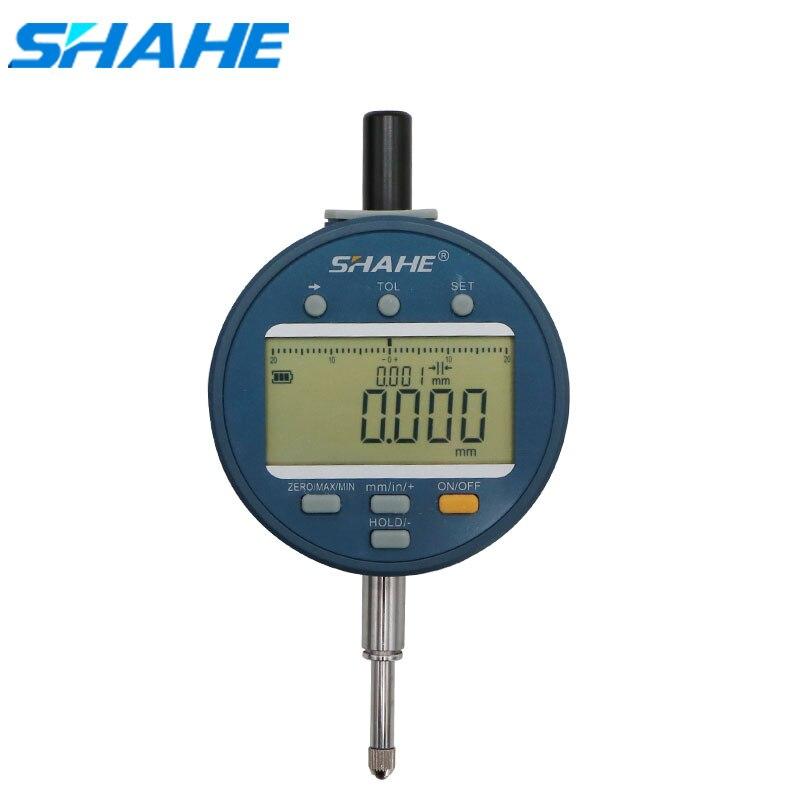 SHAHE-مقياس مؤشر رقمي إلكتروني ، أداة قياس مميزة مع إيقاف تلقائي ، تحويل من 0 إلى 12.7 مللي متر و 0.001 مللي متر