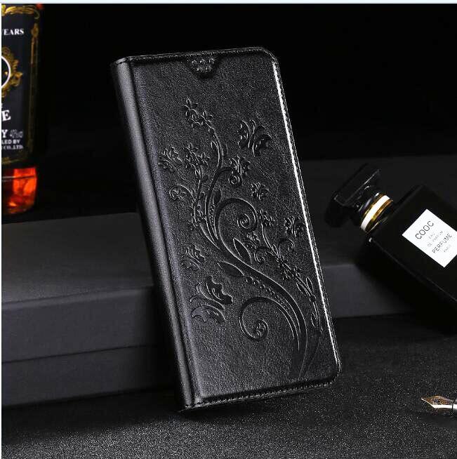 Flip portefeuille En Cuir étui pour huawei Honor 9 Lite 8 7 7X 7A 7S 6C 6X 6A 6 5X 5C 5A 4X 4C 4A 4 3C Lite Pro Plus Téléphone Couverture Noire