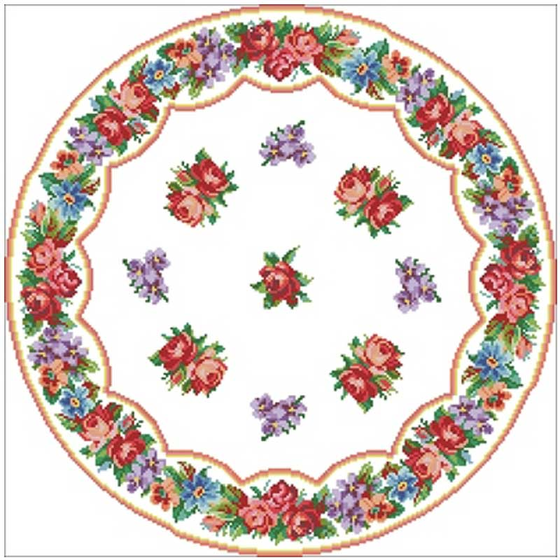 Mantel redondo de rosa con diseño de punto de cruz contado 11CT 14ct 18CT DIY juegos de costura de punto de cruz chino bordado juegos de costura