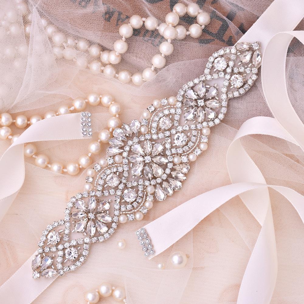 Tali pinggang pengantin berlian pengantin Rhinestones, tali pinggang - Aksesori perkahwinan - Foto 5