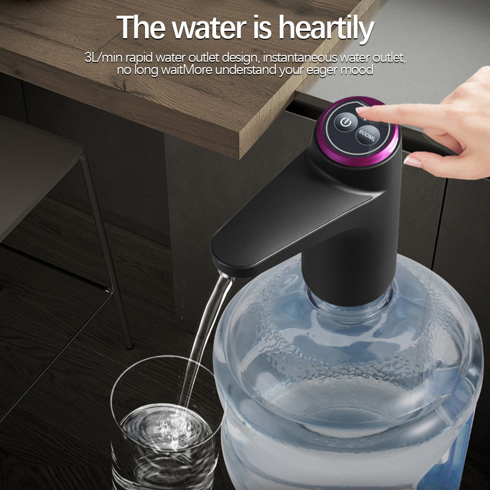 Water Bottle Pump Water Dispenser USB Rechargeable Electric Water Pump Portable Automatic Drinking Bottle Pump