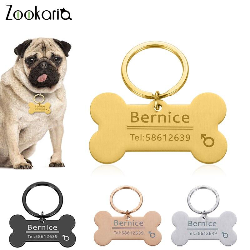 Collar antipérdida personalizado para perro, etiqueta de identificación para mascota, nombre de identificación grabado para gato, Collar de cachorro, etiqueta, hueso, accesorios para mascotas, Dropshipping