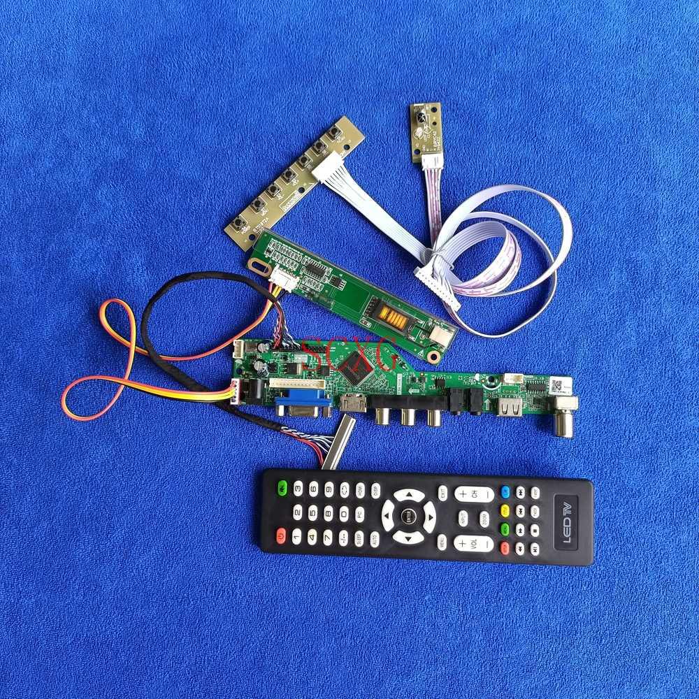 لوحة قيادة عرض لـ LTN141AT02/LTN141AT07/LTN141AT13 LVDS 30-Pin 1CCFL 1280*800 عدة إشارة تناظرية HDMI-متوافق VGA AV USB