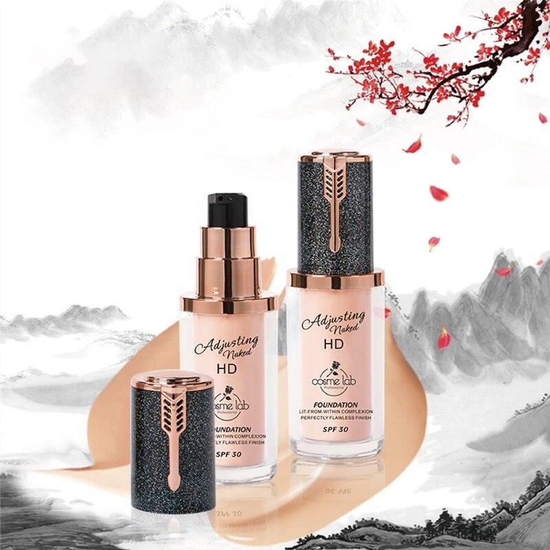 1Pc Face Makeup Liquid Foundation Long Lasting Whitening Foundation Moisturizer Concealer Women's Fa
