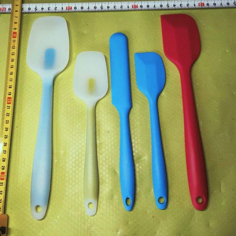 Colher de silicone para sabão diy, resistente ao calor, raspador de cozimento, ferramentas de fazer sabão, várias cores e tamanhos opcionais