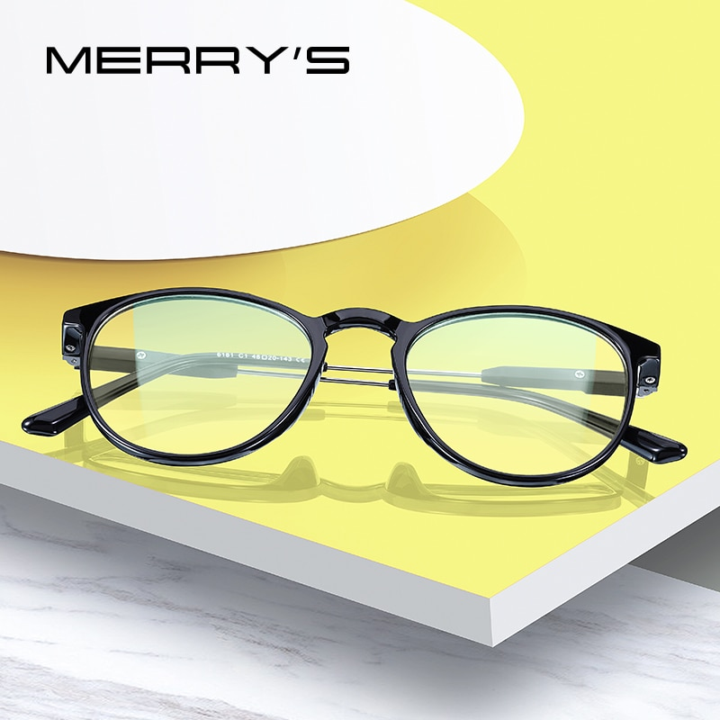MERRYS DESIGN-نظارات واقية من الضوء الأزرق للنساء S2181FLG ، مناسبة لألعاب الكمبيوتر