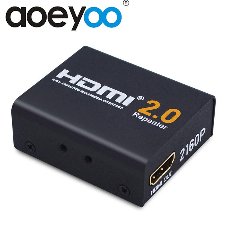 Aoeyoo 60M Hdmi Extender Hdmi 2.0 Splitter Repeater Signaalversterker Booster Adapter 1080P @ 60Hz Hdcp 2.2 edid Bandbreedte