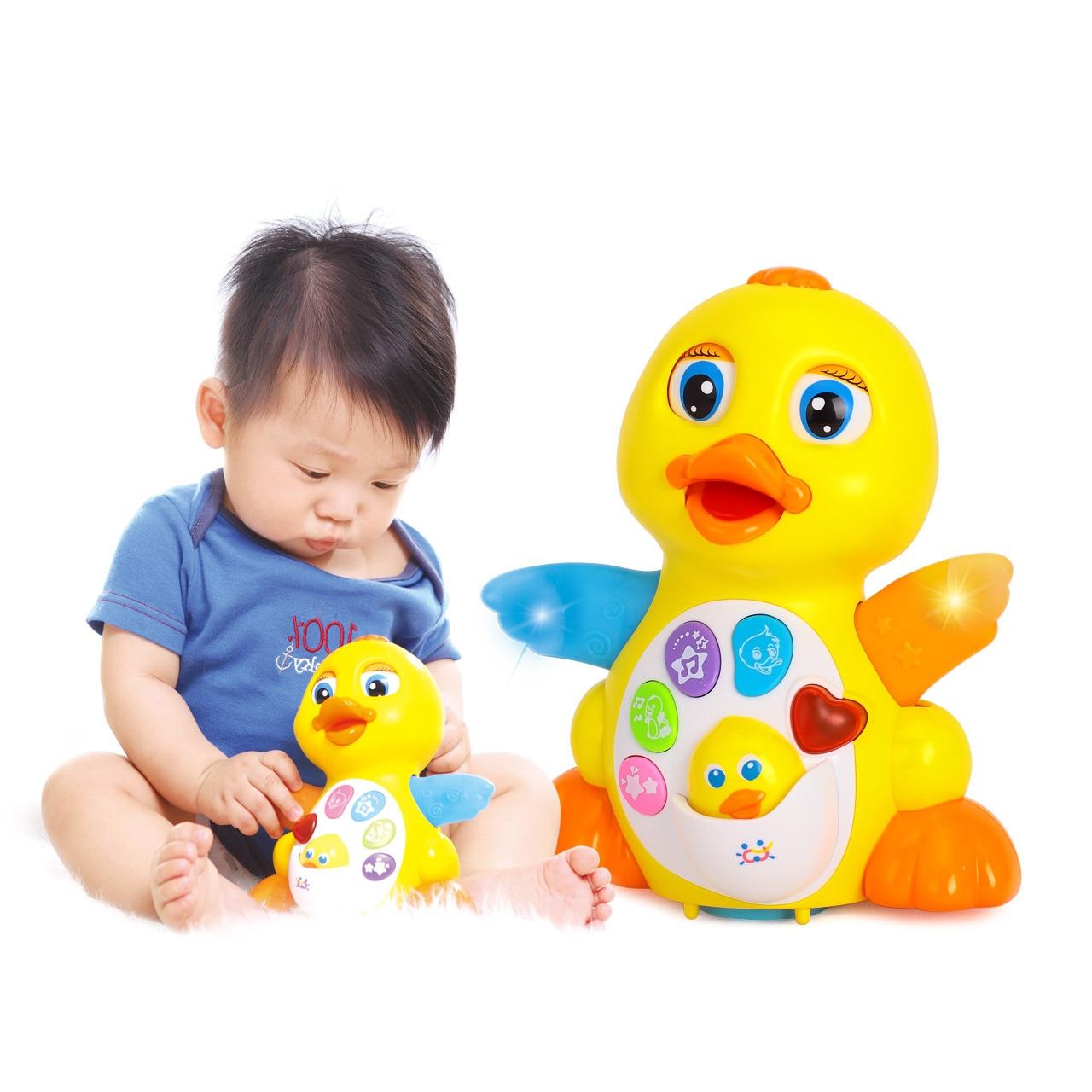 Pato Ruibarbo Oscilante Para Bebé Juguete Musical Eléctrico Universal Para Bebé De 1-3 Años Juguete De Animal Intelectual Joven