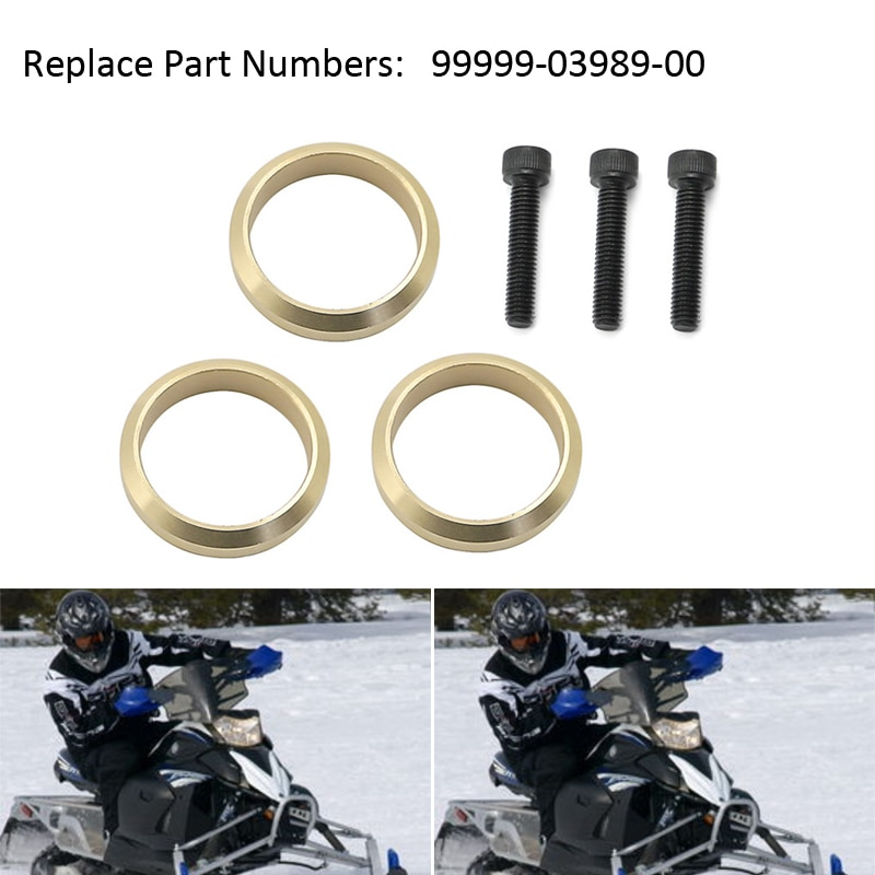 Snowmobile Copper Exhaust Gasket Set For Yamaha FX Nytro RS Vector Apex RX1 LTX Attak Rage 99999-03989 8FA-14623-00-00
