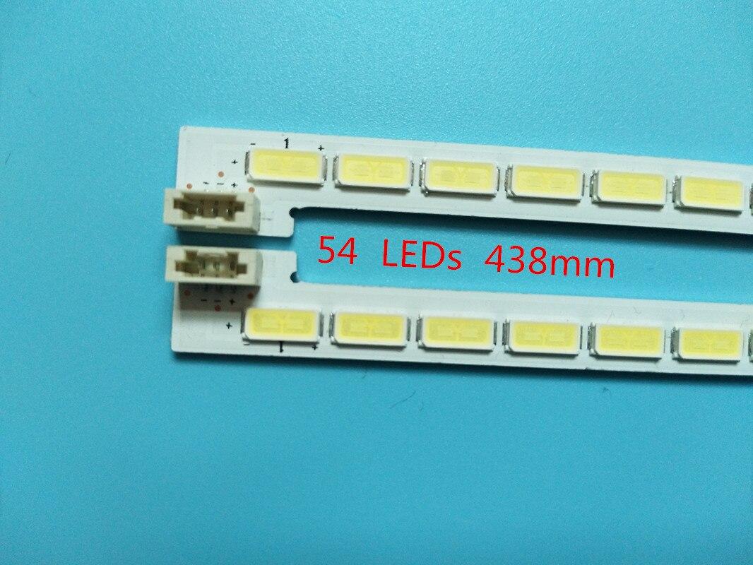 10 Uds x 70 pulgadas LEVOU Fondo tiras de luz para Samsung TV LJ64-03750A LTI700HA02 STS700A02-54LED-A/BTYPE 54-LEDs