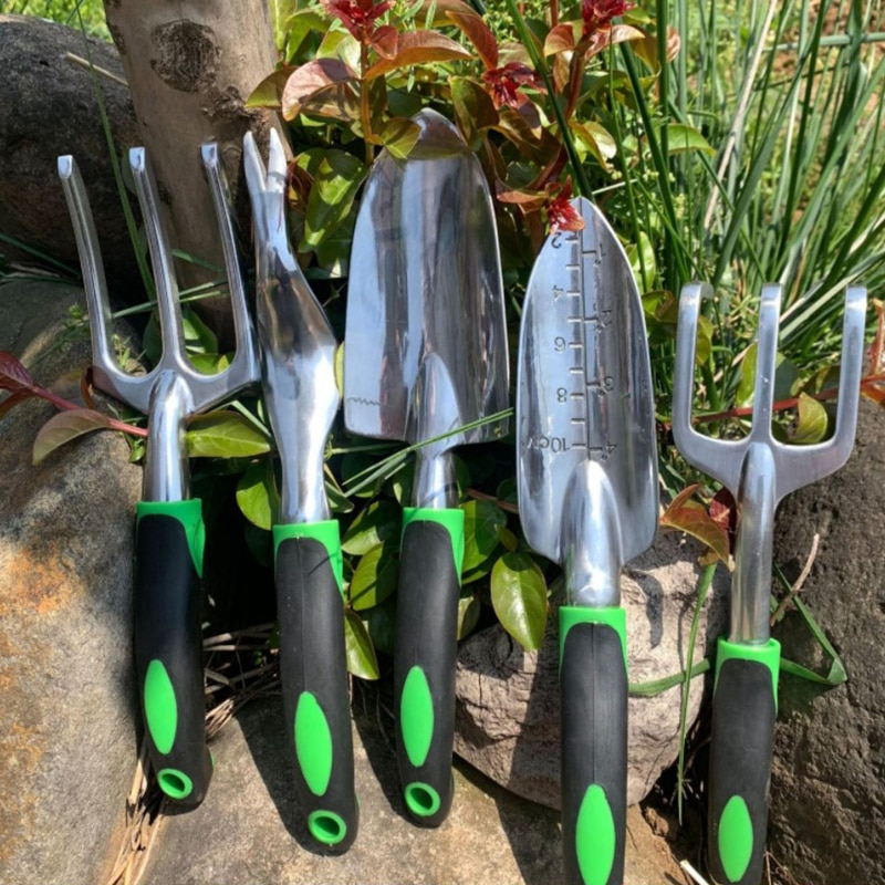 Gardening Tool Set 9 Pcs Aluminum Alloy Gardening Kit Garden Hand Tools Set Transplanting Tools Miniature Plant Gardening Tools enlarge