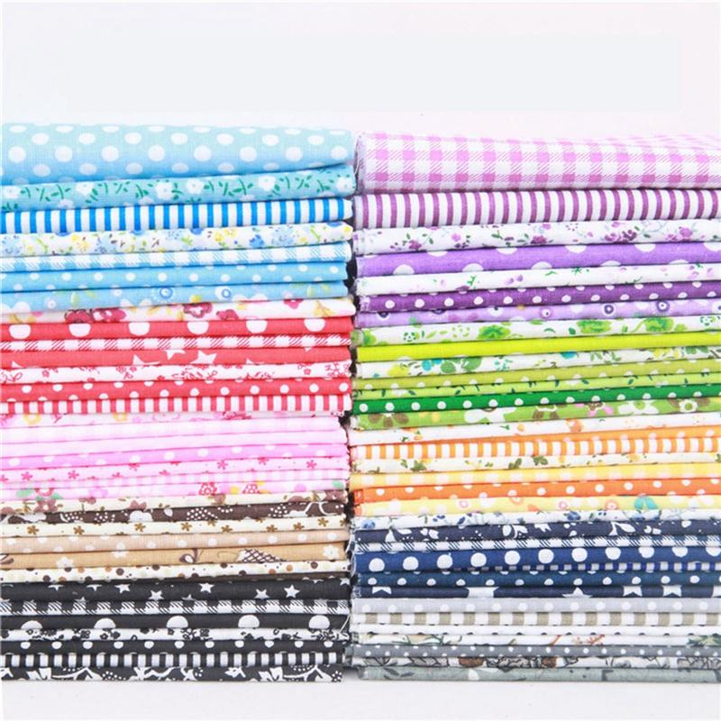 Lote de 14 Uds de 25x25cm de tela de algodón, tela impresa para coser, tela acolchada para Patchwork, Material hecho a mano DIY