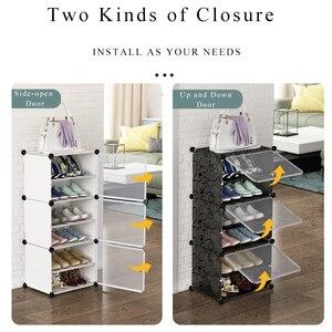 Популярная многослойная Простая Стойка для обуви, компактный органайзер для обуви и ботинок, шкаф для самостоятельной сборки, обувной шкаф с дверной мебелью