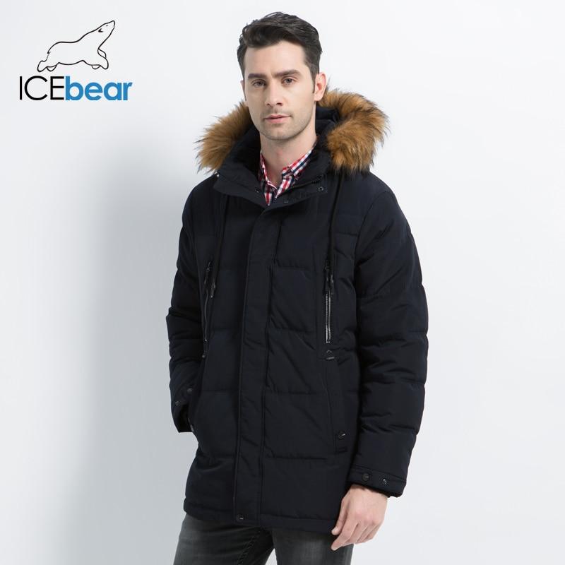 ICEbear Новая мужская одежда Модная мужская куртка с капюшоном Мужское пальто Толстая теплая мужская одежда Высококачественные мужские зимни...