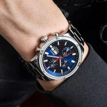 OBLVLO Men Watch Top Brand Automatic Mechanical Casual Watch Steel Date Watch Men Waterproof Relogio
