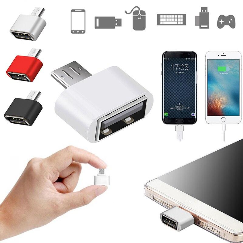 1 Uds Cable Mini OTG Adaptador USB OTG Micro USB 2,0 a...