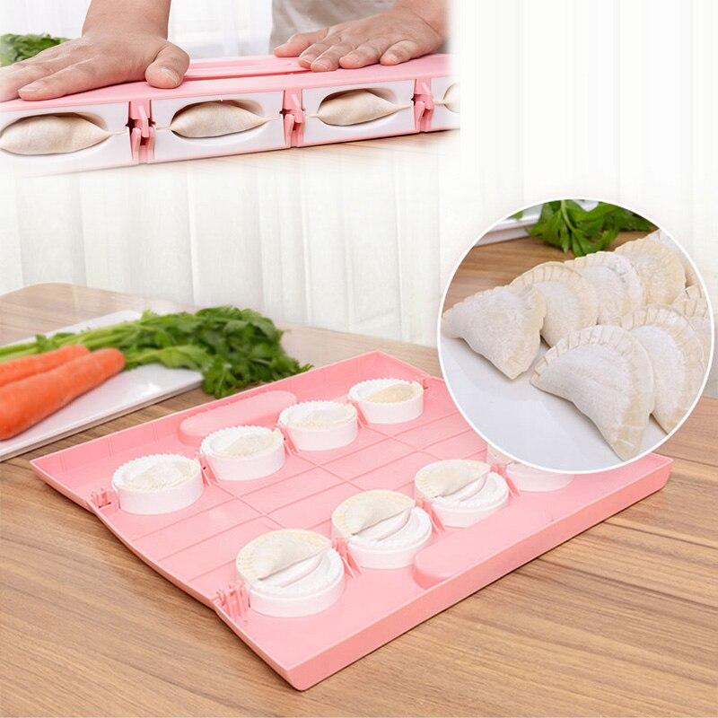 الجديد الزلابية صانع أداة Jiaozi قالب بييروجي يمكنك جعل 8 الزلابية في وقت قوالب مخبوزة المعجنات اكسسوارات المطبخ براءة اختراع