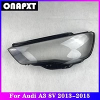 front headlight cover replacement for audi a3 8v car plexiglass head light lampshade lamp shell case transparent lens 2013 2015