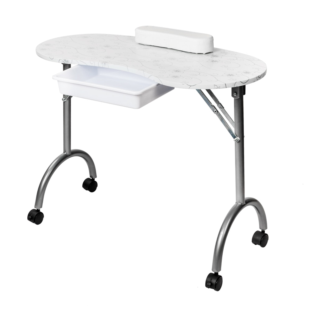Salon Portable Mdf Manicure Table Spa Nail Equipment Beauty Salon Equipment With Arm Rest & Drawer M