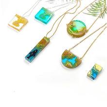 Mini Island Silicone Molds DIY Epoxy Resin Craft Jewelry Charms Cabochons Making Tools Mold UV Resin Art Coastline Pendant