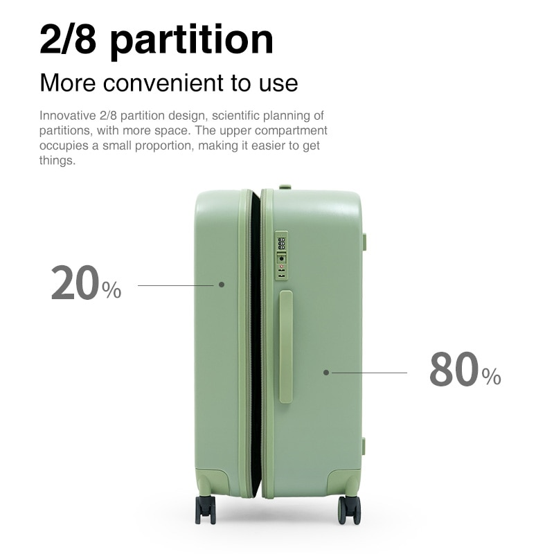 Mixi 26 Inch Trunk Large Capacity Rolling Luggage 2021 New Break Design 2/8 Partition Check In Travel Suitcase 100% PC 78.5L