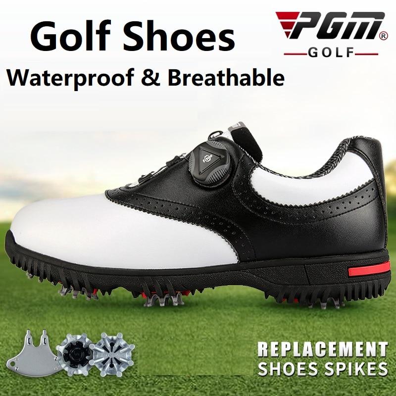 PGM-أحذية جولف متعددة الوظائف للرجال ، أحذية رياضية مقاومة للماء بأبازيم دوارة ومضادة للانزلاق