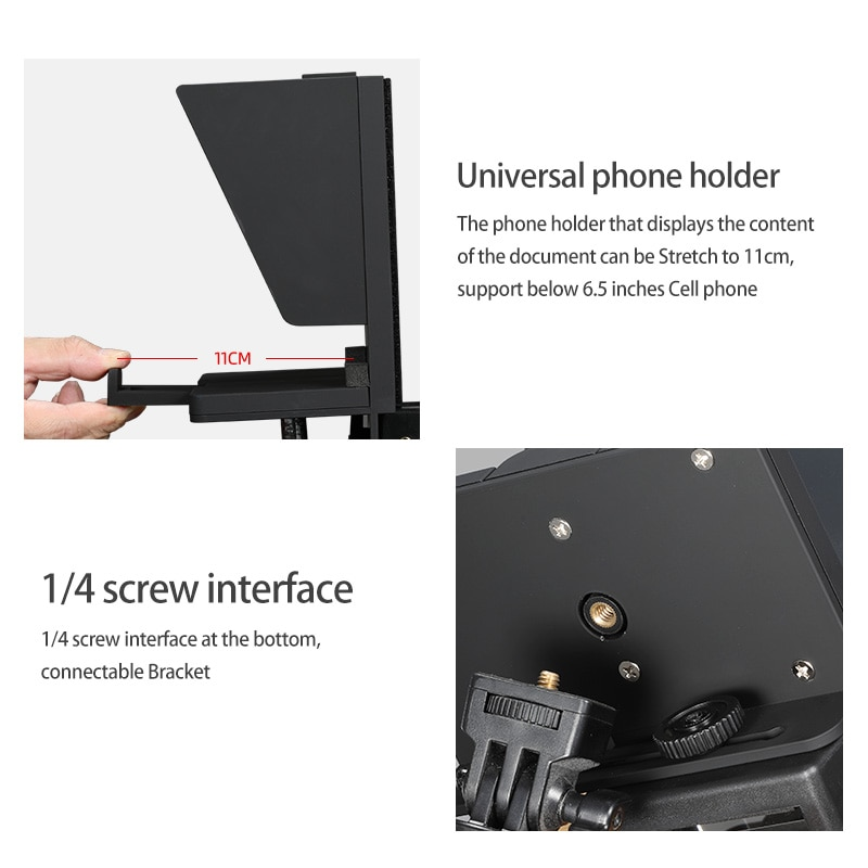 Hot Sale Mini Teleprompter Portable Inscriber Mobile Teleprompter Artifact Video With Remote Control enlarge