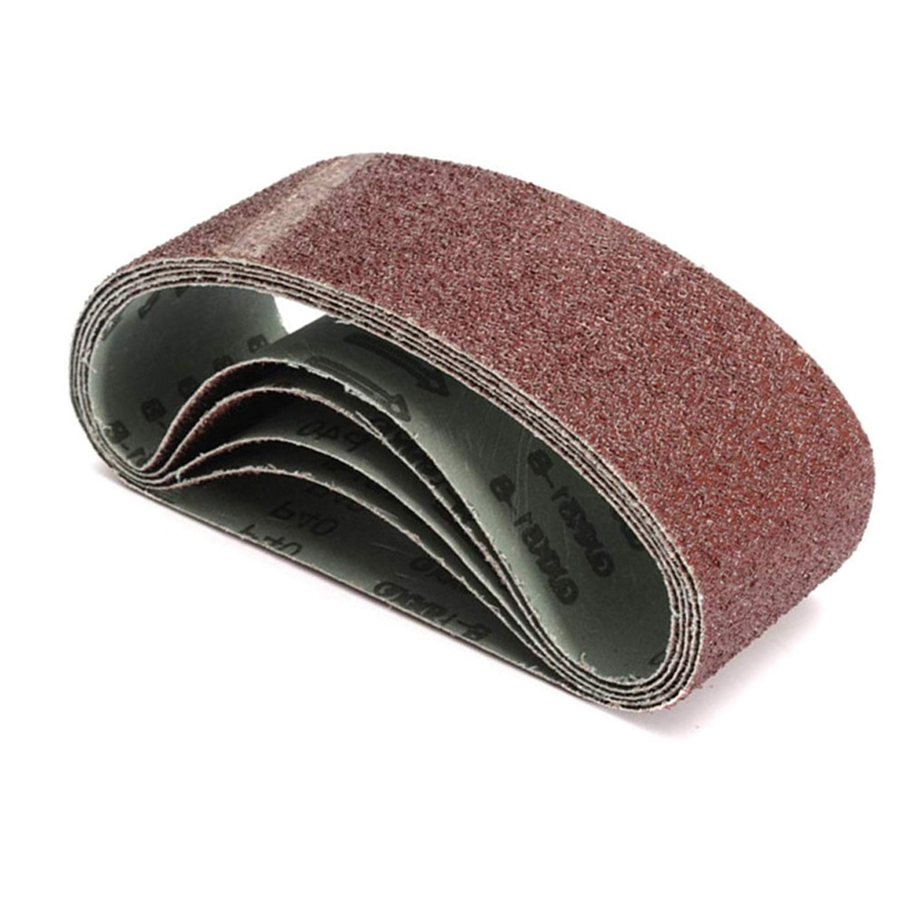 5pcs 533x75mm 40 Grit Grinding Sanding Belt Abrasive Tool  For  Wood Furniture Metal and Non-metal Polishing
