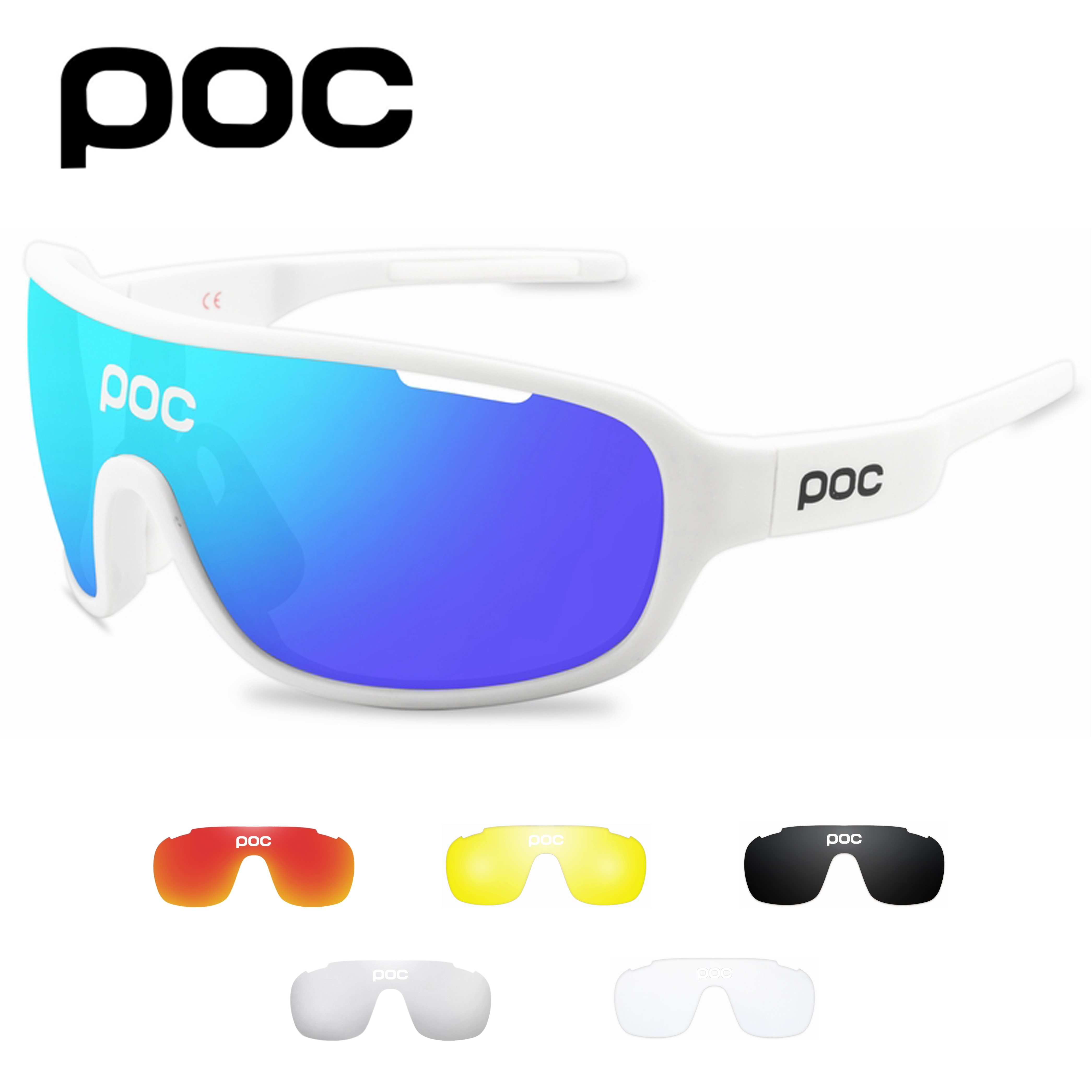 POC 5 Lens Cycling Sunglasses Outdoor Sport Polarized Light Eyewear Men Women Bicycle Mountain Bike Glasses UV400 Goggles 2021 all the new cycling sunglasses men women uv400 sport mountain road bike glasses mtb running fishing goggles bicycle eyewear