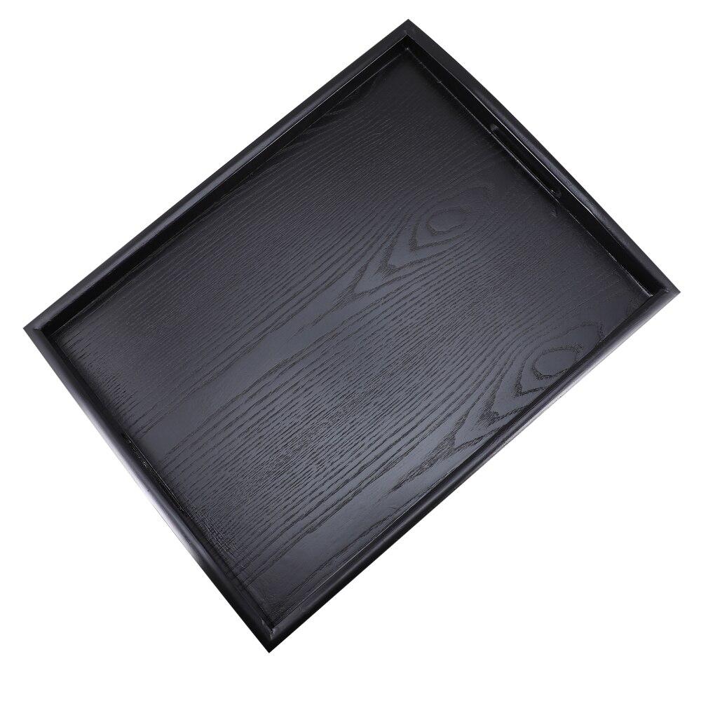 1 قطعة لوحة تخدم الزخرفية المنزلية تخزين لوحة ملاعق خشبية للمطبخ (أسود)