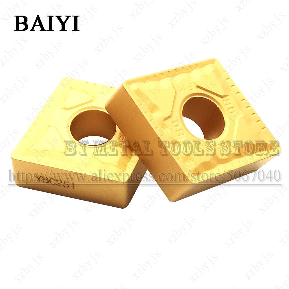 CNMG160608-PM YBC151 CNMG160608 PM YBC151 carbide inserts External Turning tool CNC cutting metal lathe processing tool for stee