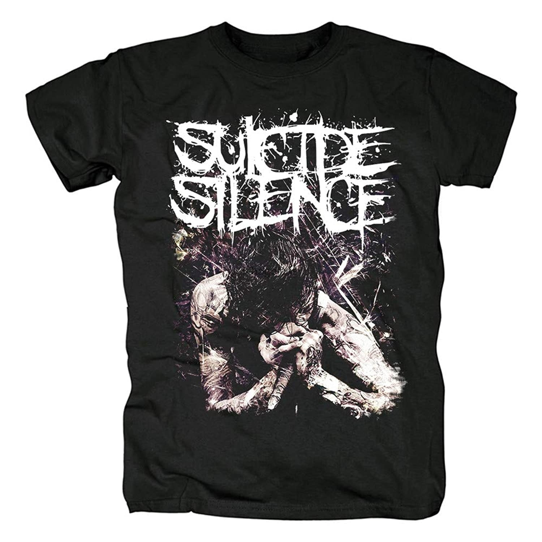 Camiseta masculina camisa de manga curta suicídio silêncio rock t feminino hiphop camisas (10)