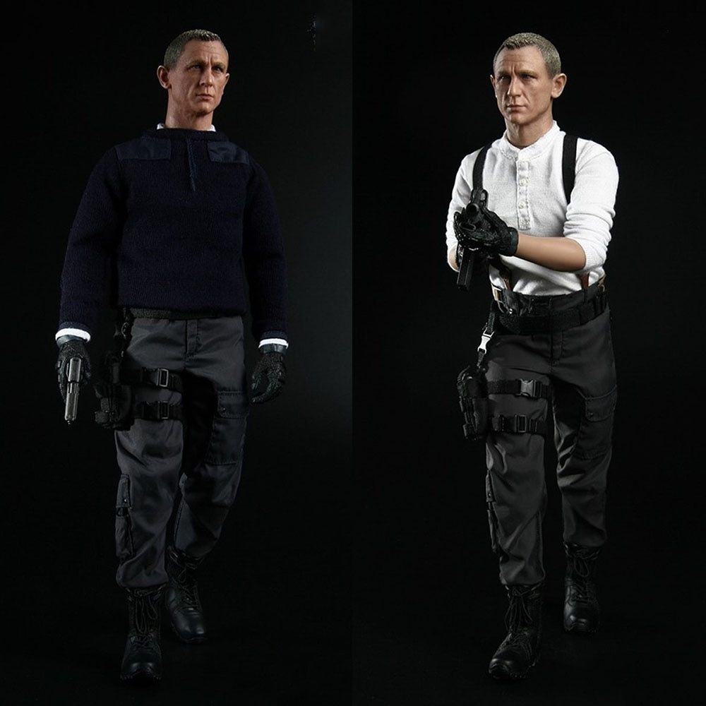 1:6 Scale James Bond 007 Doll Model Collectable BBT9016 12 inch Male Action Figure Full Set Display for Fans Holiday Gift