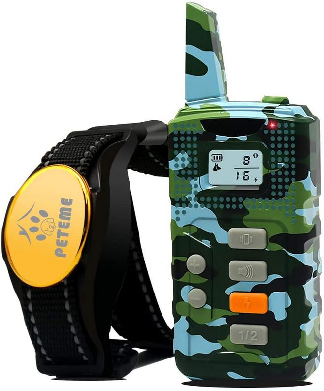 Тренировочный ударный ошейник для собак перезаряжаемый с звуковым сигналом/вибрацией/ударом, 100% водонепроницаемый дистанционный тренажер...