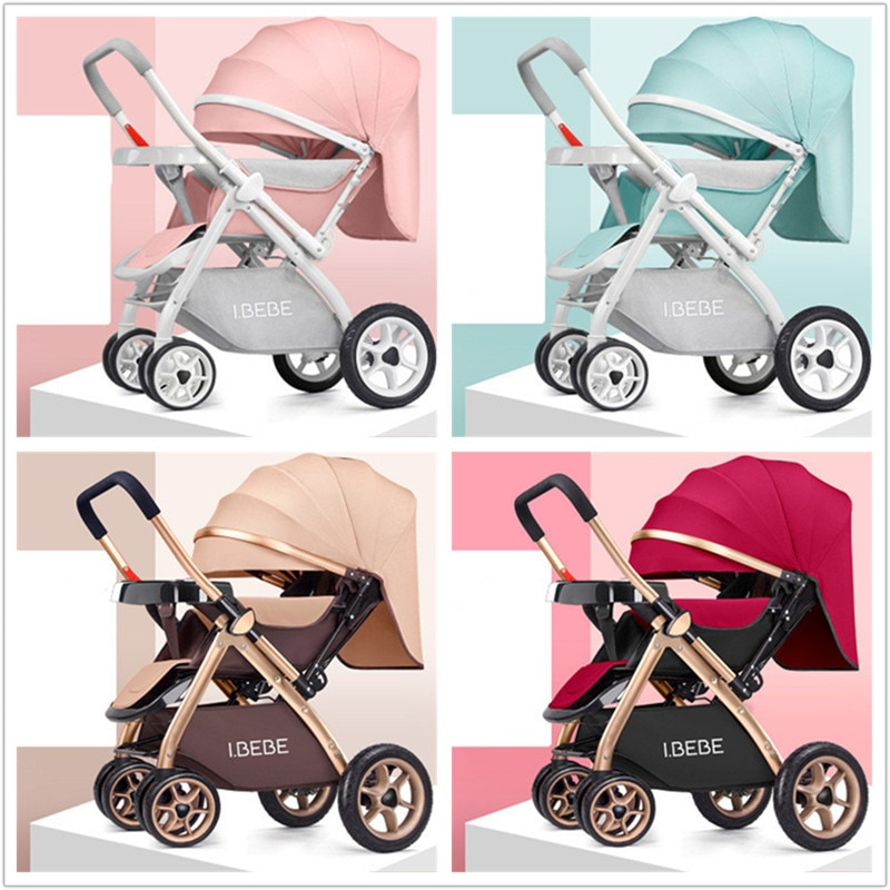 Baby Stroller 2 in 1 Stroller Lying or Dampening Folding Light Weight Two-side Child Four Seasons Russia Europe US free shipping