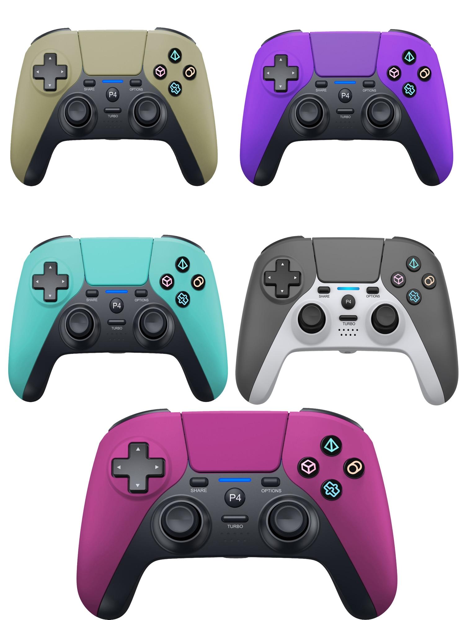 لطيفة البوب 12 ألوان بلوتوث أداة تحكم في الألعاب لاسلكية ل PS4 وحدة التحكم الاهتزاز ستة محور شاشة TOCH ل PS5 نمط PC المقود