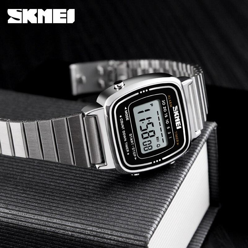 5pcs SKMEI Lady Digital Watch Top Brand Luxury Female Waterproof Dial Electronic Watch Fashion Sport Watch 1252 enlarge