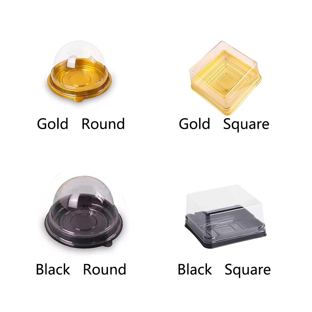 50 шт., практичная упаковка с яичным желтком и буфами для кексов, декоративные полукруглые прозрачные одноразовые контейнеры для праздничны...