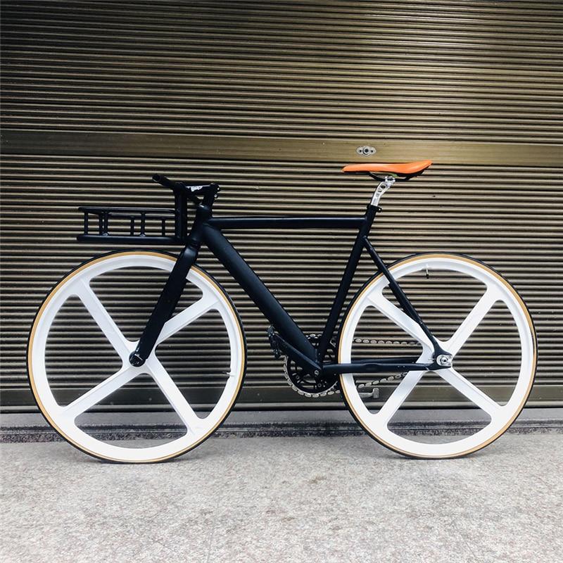 Marco de bicicleta de aleación de aluminio para bicicleta de 53cm 700C, 4 radios y aleación de magnesio, accesorios para ciclismo