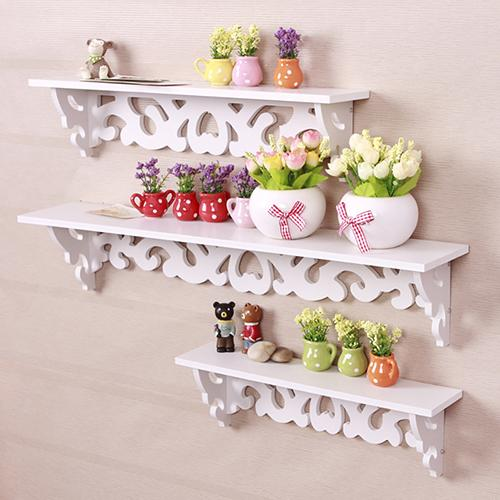 Estante de pared de madera hueca tallada de plástico estante estantería almacenamiento decoración del hogar soportes de almacenamiento bastidores organizador de almacenamiento para el hogar