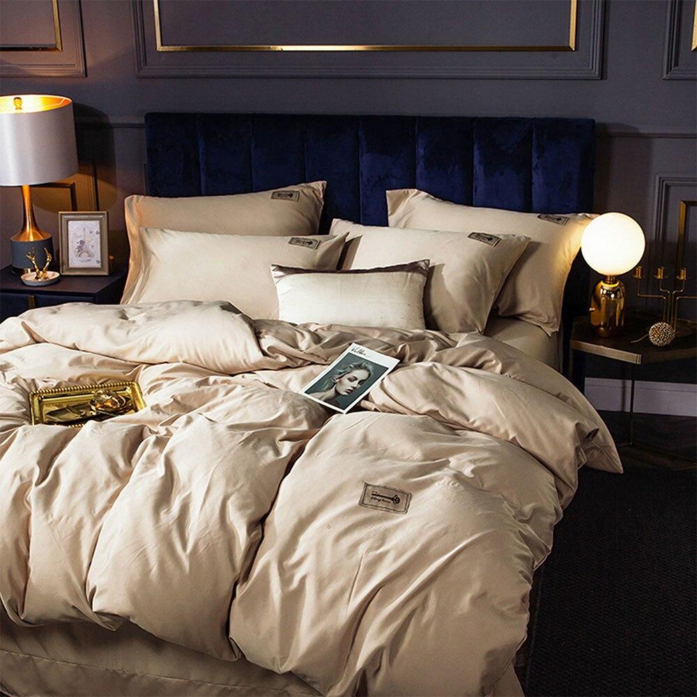النوم العاري المضادة للتجاعيد المتقدمة 60 يوم التوت الحرير غسلها أربع قطع الفراش بسيط نمط بلون دعوى