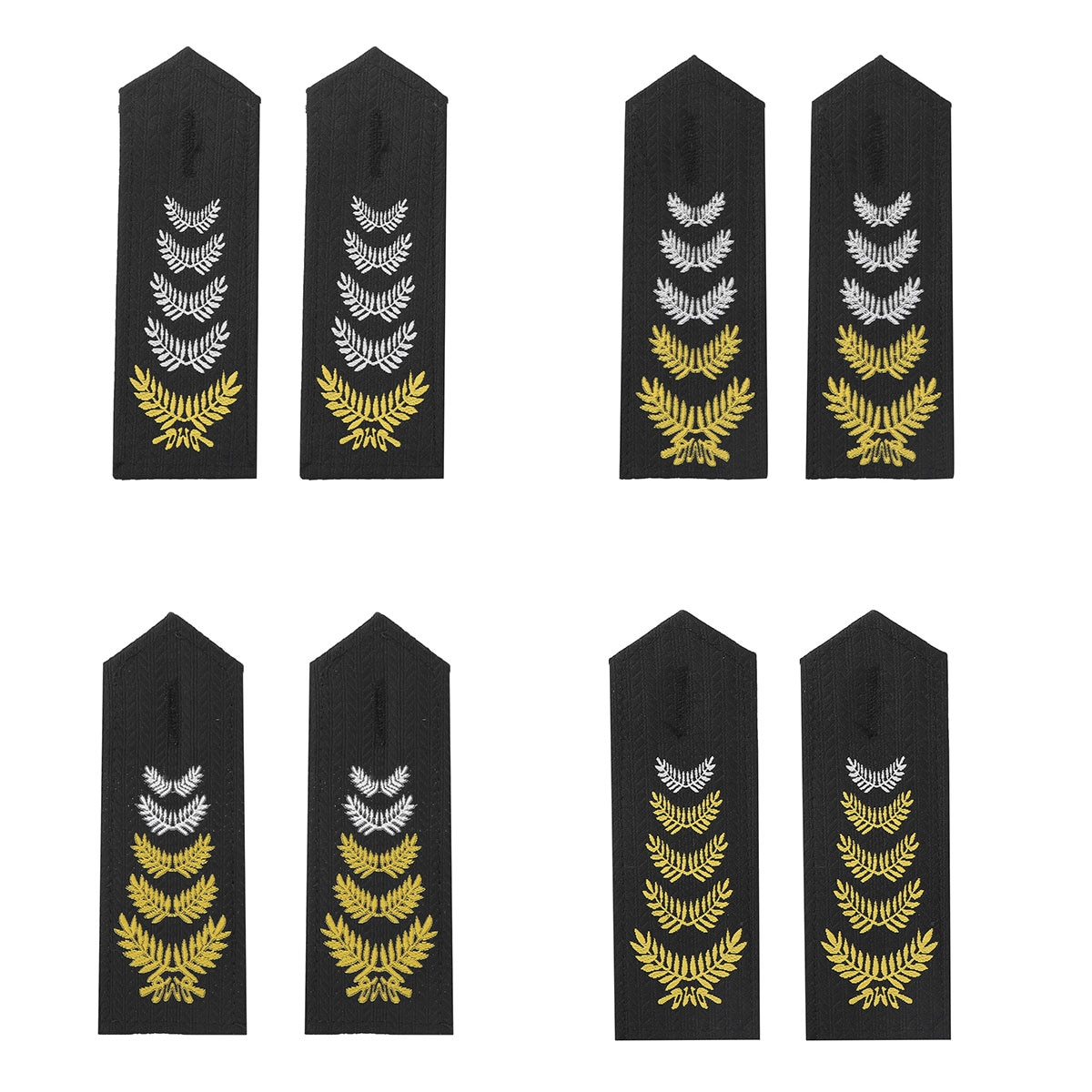 1 par de hombreras de uniforme profesional de Epaulets de camisa de oficial de seguridad tradicional, bandanas DE TRIGO bordado DIY Epaulette