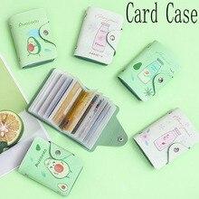 1PC porte-carte Fruit avocat PU cuir 20 Bits porte-cartes affaires hommes femmes mode crédit passeport carte sac ID banque portefeuille