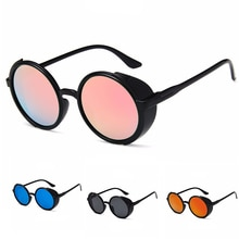 Classic Retro Steampunk Gothic Round Sunglasses For Women Men Fashion Beach Driving Sports Goggles U