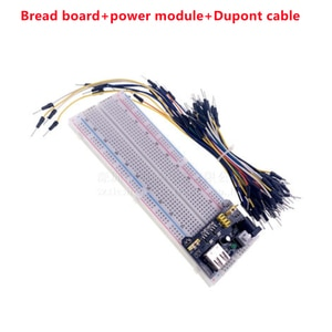 Breadboard MB-102 Point Solderless PCB Mini Universal card Test Bread Board DIY Protoboard for arduino kit + 65 jumper wire
