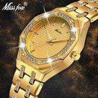 MISSFOX Women Watches Women Fashion Watch 2019 Luxury Brand Ladies Watch Waterproof Gold Quartz Ap Watch Xfcs Female Clock Hours