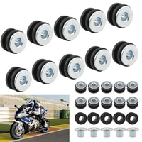 102030pcs motorcycle rubber grommets bolt assortment kits fairing cowling pieces buffer washer for honda yamaha suzuki fairing