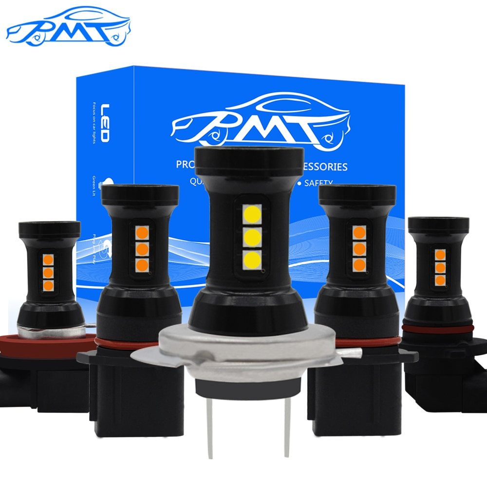 BMT 2 uds H7 LED H11 Auto niebla luz 9005 de 9006 HB3 HB4 H8 H9 H16 P13W PSX24W 5202 día bombillas de luces LED para la iluminación del coche accesorios